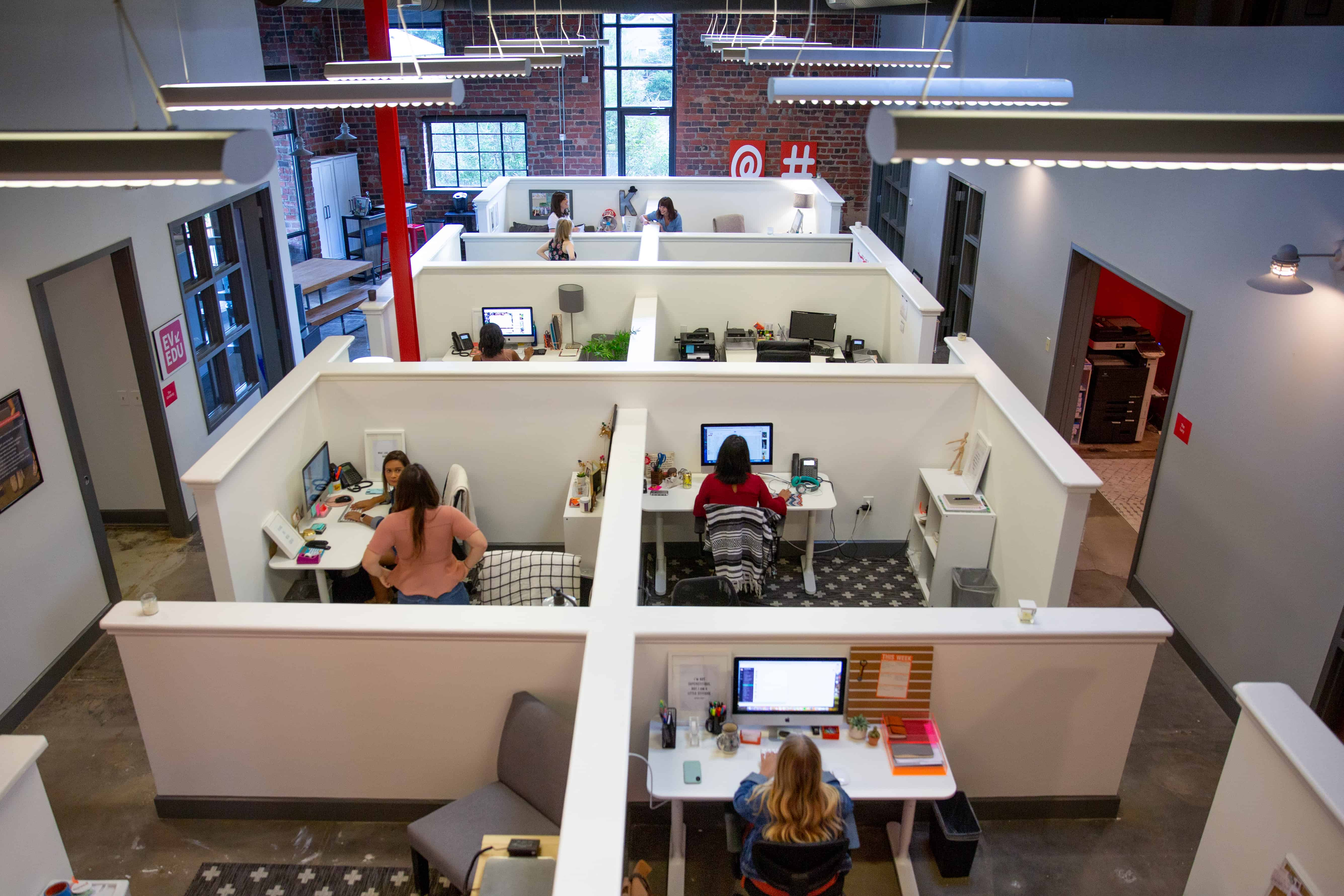 Bird's-eye View of Everywhere's Main Office Space