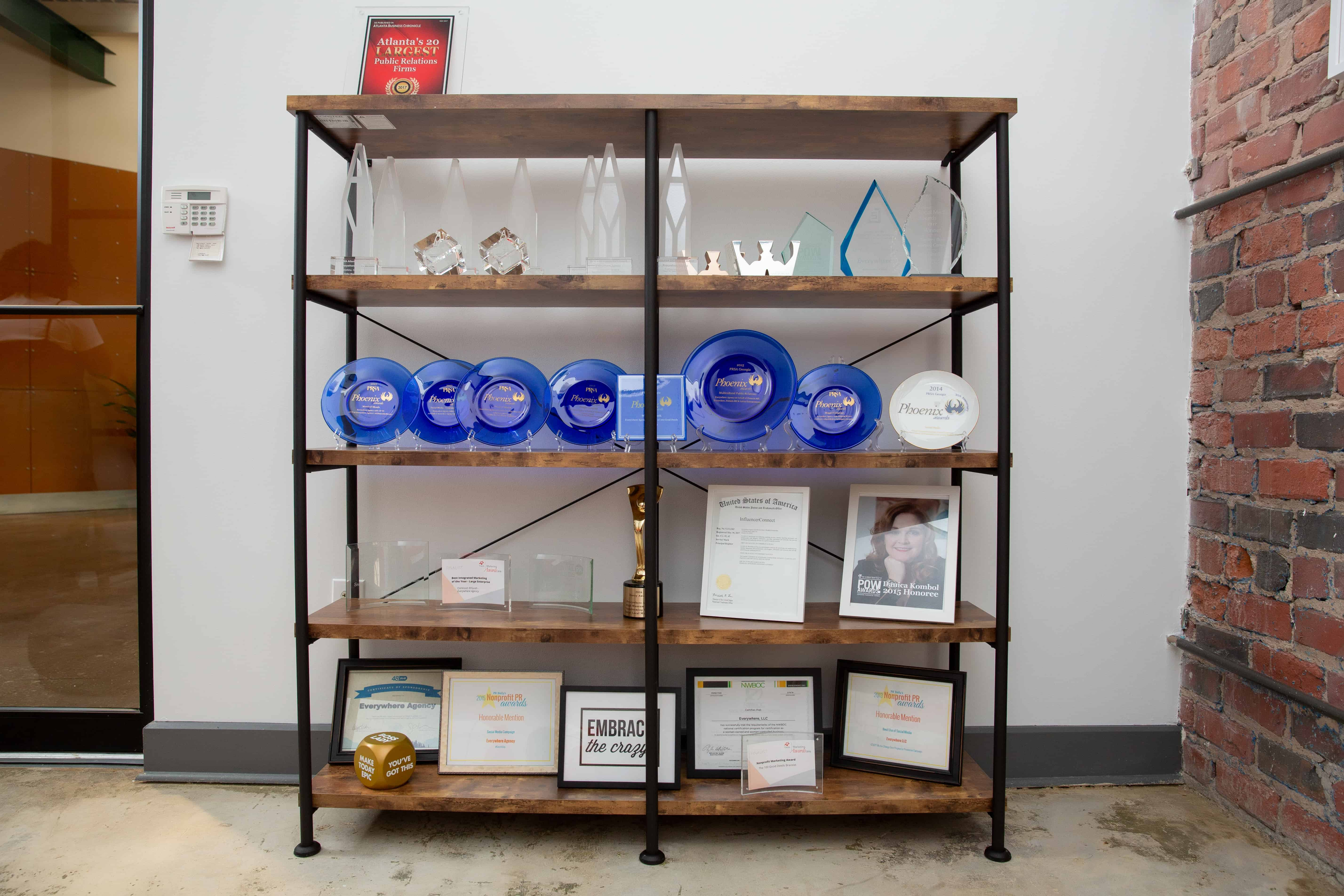 Everywhere's Awards and Accolades Featured in the Malala Lounge