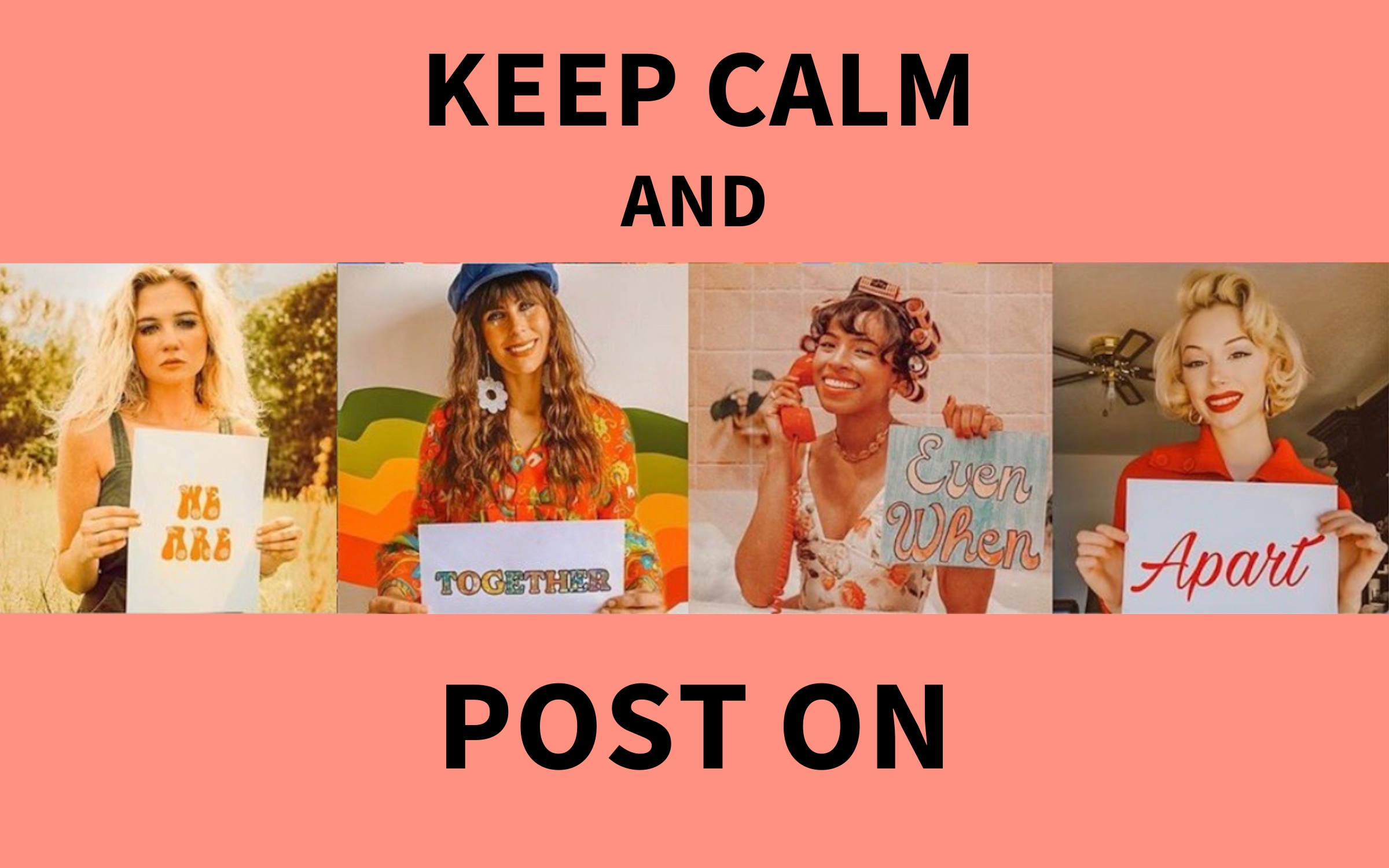 keep calm and post on